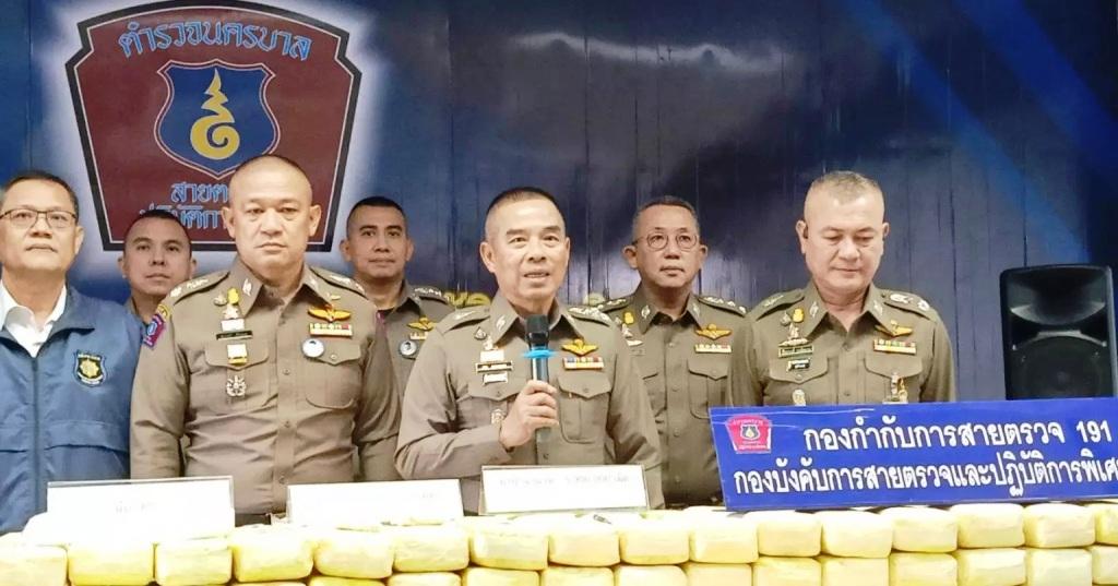 ตำรวจ 191 โชว์ผลงานจับกุมแก๊งขนยาเสพติดรายสำคัญ 3 คน ยึดยาบ้า 5.9 ล้านเม็ด