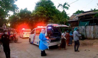 2 หมู่บ้านในเช้าตรู่ถนนถูกตำรวจเหตุการณ์พบผู้ติดเชื้อโควิด