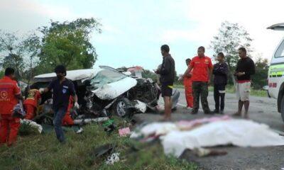 สมาชิกในครอบครัว 5 คนเสียชีวิตรวมทั้งเด็กชายและเด็กหญิงในอุบัติเหตุรถชน