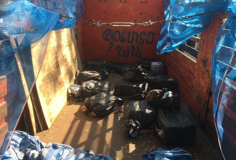 เชียงรายยึดยาคริสตัล 16 กระสอบซุกซ่อนในรถบรรทุก