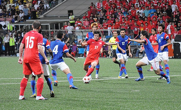 Thailand and Singapore Played out a Goalless Draw