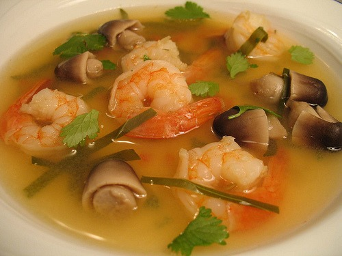 Tom Yum is probably the most famous of Thai soups and is popular not only in Thailand but in Thai restaurants worldwide