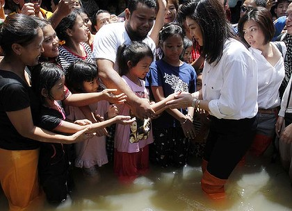 Yingluck Shinawatra said her Country was Facing its Worst-Ever Natural Disaster