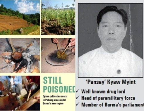 Myanmar (Burma) Expansion of Opium Fields Problem for Thailands Northern Boarders