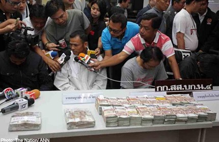 Robbers Find $41Million Baht in Thai Officials Home