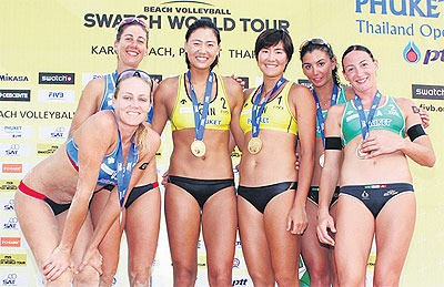 China Wins FIVB Beach Volleyball Swatch World Tour Phuket Thailand Open