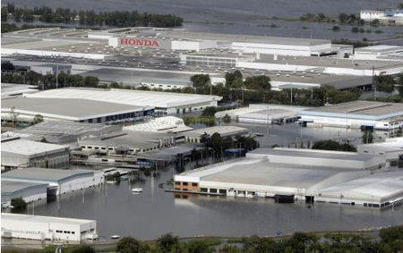 Honda Cuts Production in North America Due to Foods