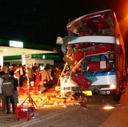 Eight Dead in Northern Thailand Bus Crash
