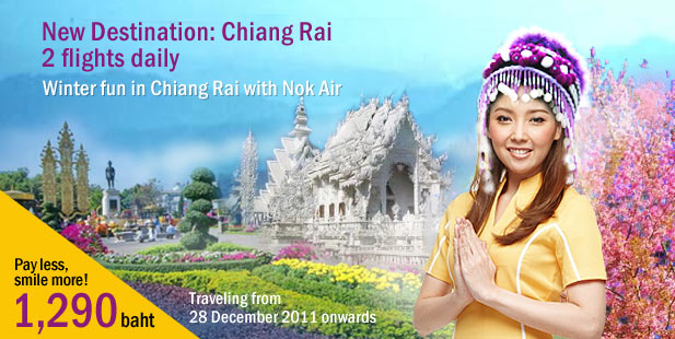Nok Air adds Bangkok – Chiang Rai Route
