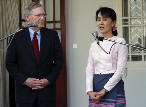 US Senator Mitch McConnell Hails Burmese Reforms