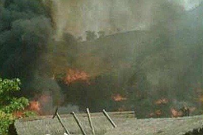 Fire Ravages Refugee Camp in Tak Thailand