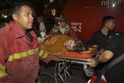 Hotel Fire Claims Tourist in Bangkok