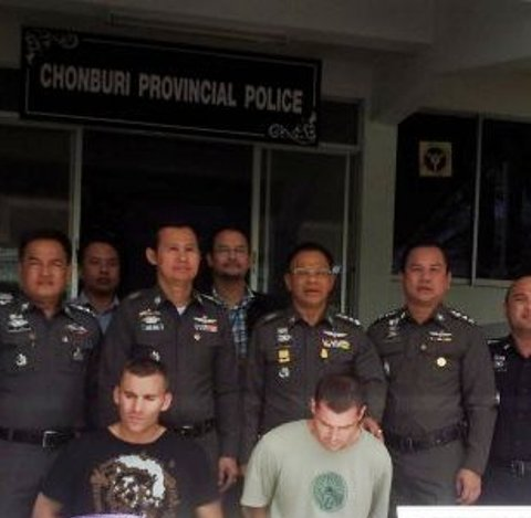 Two Stupid British Men Trying to Steal ATMs in Chonburi Province