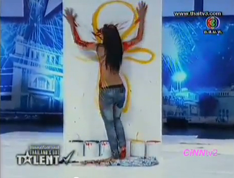 Woman Paints with Breasts on Thailand's Got Talent TV Show