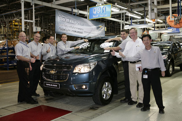 First Production of the all-New Chevrolet Trailblazer 2013