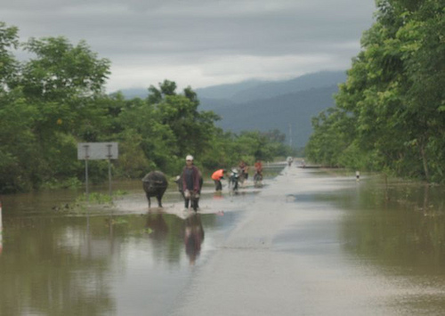 Flooding along the Mekong in Chiangrai Province