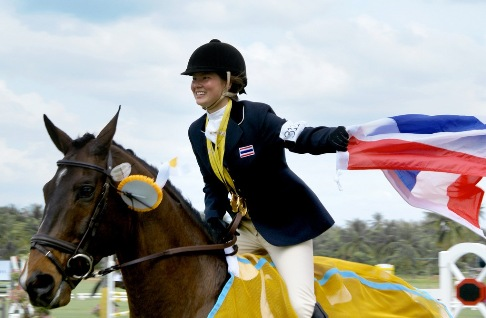 Thailand's Nina Lamsam Ligon First-Ever Asian Equestrian Woman at Olympic Event