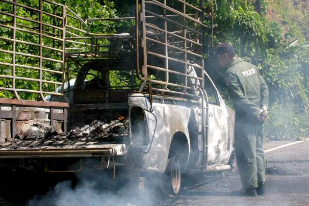 Man Decapitated and Burned in South of Thailand