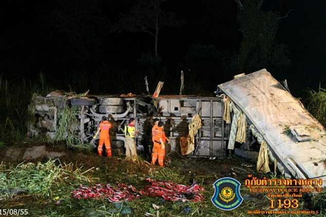 Tragic Bus Accident on ChiangRai – ChiangMai Highway 3 Dead