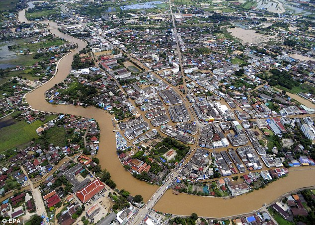 Flooding in Thailand's Northern Provinces worries Capitol