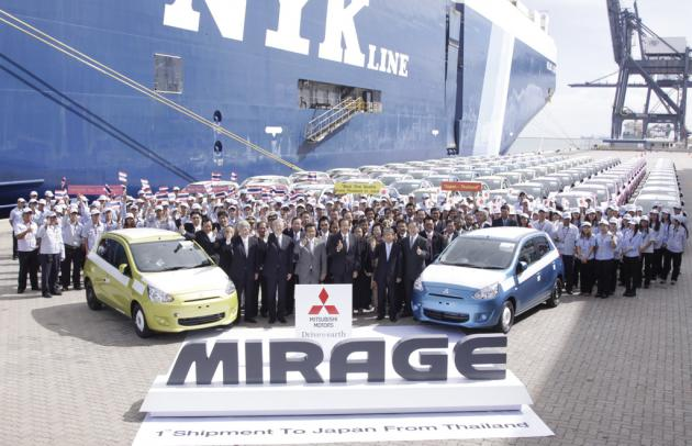 Thailand Now Number One Production Base Worldwide for Mitsubishi
