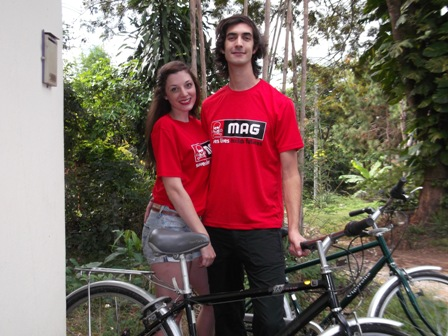 Couple Cycle from Chiang Rai to China for Landmines Charity