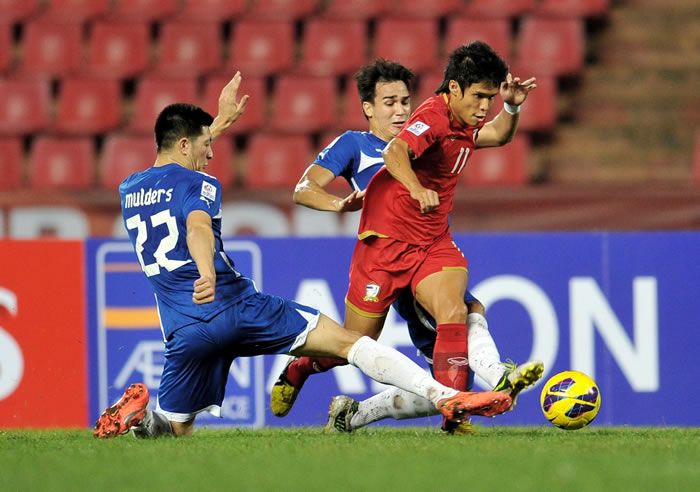 Thailand Gets their First Victory at the 2012 AFF Suzuki Cup