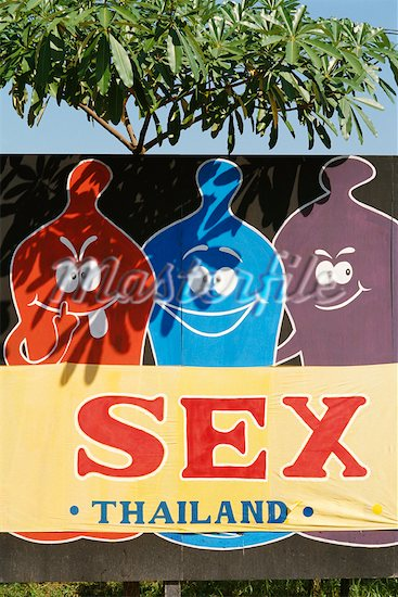 Safe Sex Sign in Chiangrai