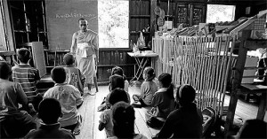 A classroom for migrant children in Chiang Mai. Interior Ministry officials are attempting to classify children born to migrant parents in Thailand as 'illegal migrants'.