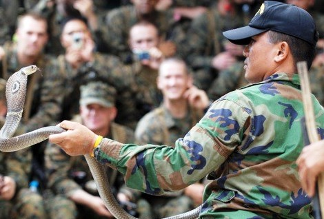 Cobra Gold  is the largest multinational exercise in the Asia-Pacific region with approximately 13,000 participants from seven full participating nations and many observer nations