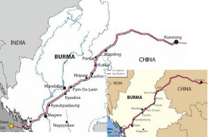 For over a year China has paid Burmese soldiers in the north to provide additional security for natural gas and petroleum pipeline construction, as well as hydroelectric dams and copper mines being built in the north.
