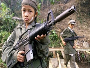 Children are targeted as they are easier to trick and more susceptible to pressure to enlist, it says.