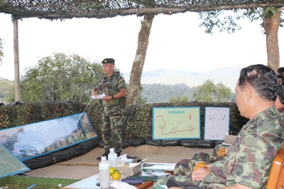 Royal ThaiArmy Chief inspects border in Mae Hong Son