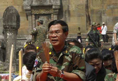 Cambodian Premier Hun Sen Calls for Border of Peace with Thailand