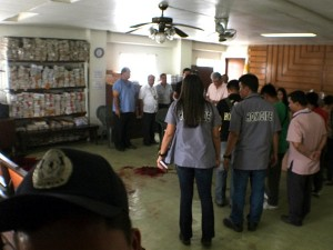Philippine courtroom after shooting