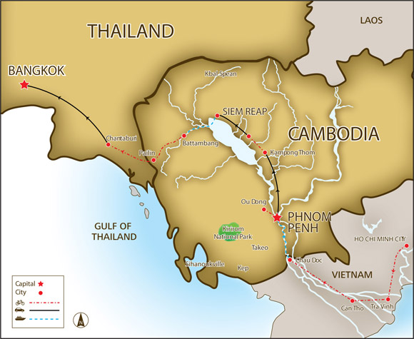 """Thailand and Cambodia entered into an agreement on Friday to establish a """"sister cities"""""""