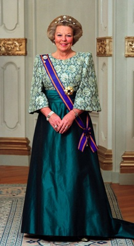 The queen, who turns 75 this week, announced her abdication in a prerecorded televised address