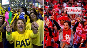 Thailand remains bitterly divided between yellow- and red-shirt protesters, together with their respective allies.
