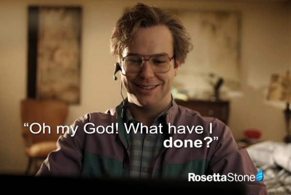 The clip is a parody of a commercial for the Rosetta Stone foreign language learning programme. The spoof was produced by popular American late-night television show Saturday Night Live