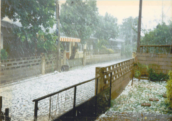 Hail Storms Hammered Northern Thailand