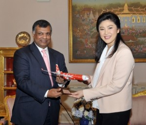 The recent visit to Bangkok by Tony Fernandes, the airline's founder and chief executive, to meet with Prime Minister Yingluck Shinawatra