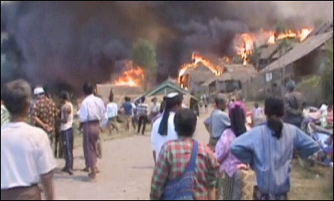 A ferocious blaze swept through a camp for Karen refugees in Mae Hong Son