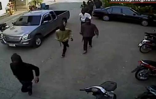 Masked Men Attack School in Buriram Province