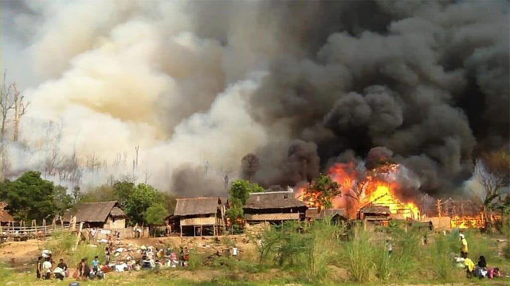 Thai Security Chief Say's Fire Accident at Refugee Camp