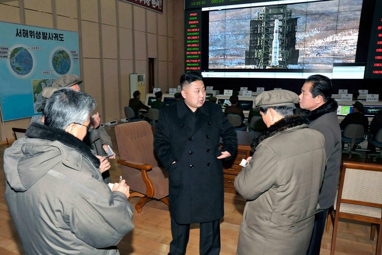 North Korean leader Kim Jong Un visits the West Sea Satellite Launch Site in Cholsan county, North Pyongan province.