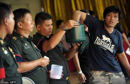 Luck of the Draw for Thai Army Recruits