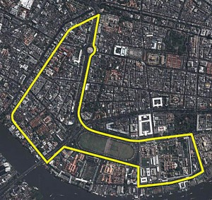 Sports Authority of Thailand has now agreed on a 5.995km track layout through the heart of Bangkok.