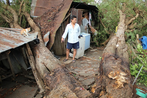 Tropical Storm Damages Homes and Power Lines in Chiang Rai