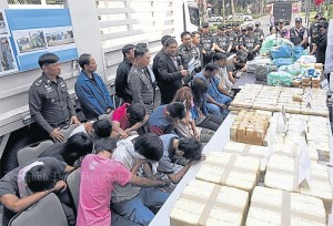 Authorities in February arrested 13 traffickers and drug mules and seized ya ba and ya ice worth two billion baht _ but there is plenty more where that came from.