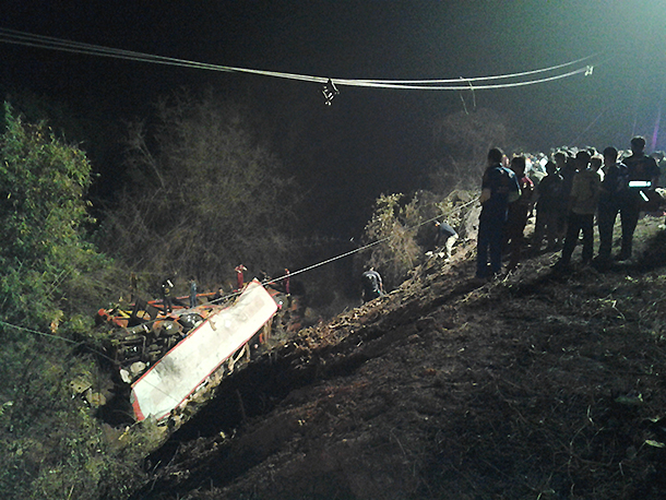 5 Killed, 51 Injured as Bus Plunges Off Cliff in Phitsanulok